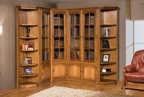 Шкаф с витриной БМ-1773 (полки деревянные)