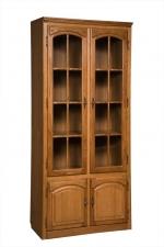 Шкаф с витриной БМ-1747 (полки деревянные)
