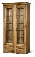 Шкаф с витриной БМ-1440-01(полки деревянные)