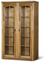 Шкаф с витриной  БМ-1442 (полки деревянные)