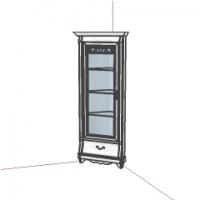 Шкаф с витриной угловой ММ-210-01У
