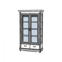 Шкаф с витриной ММ-210-02